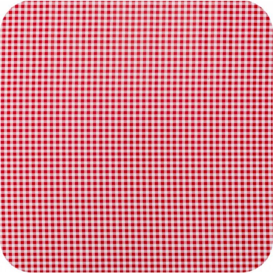 Mexicaans tafelzeil op rol 11m Ruit rood