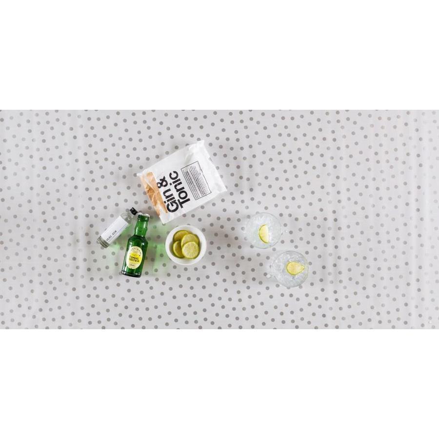 Tafelzeil Stippen - Rol - 120 cm x 11 m - Wit/Zilver