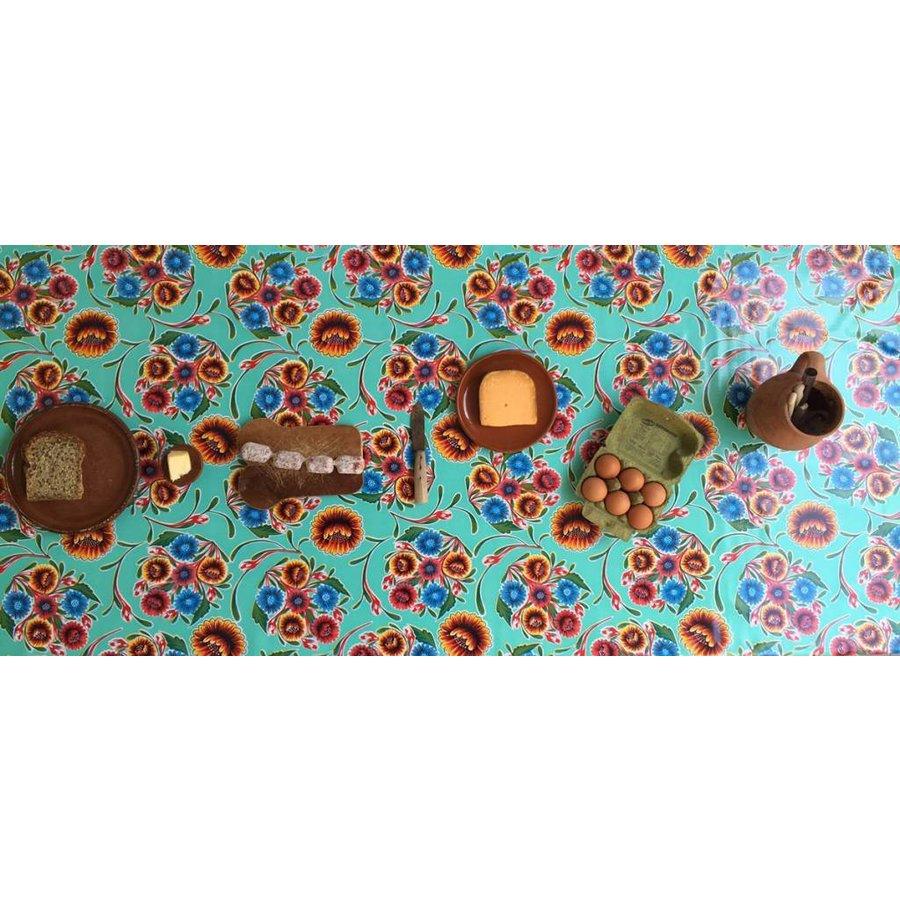 Tafelzeil Floral - Rol - 120 cm x 11 m - Mintgroen