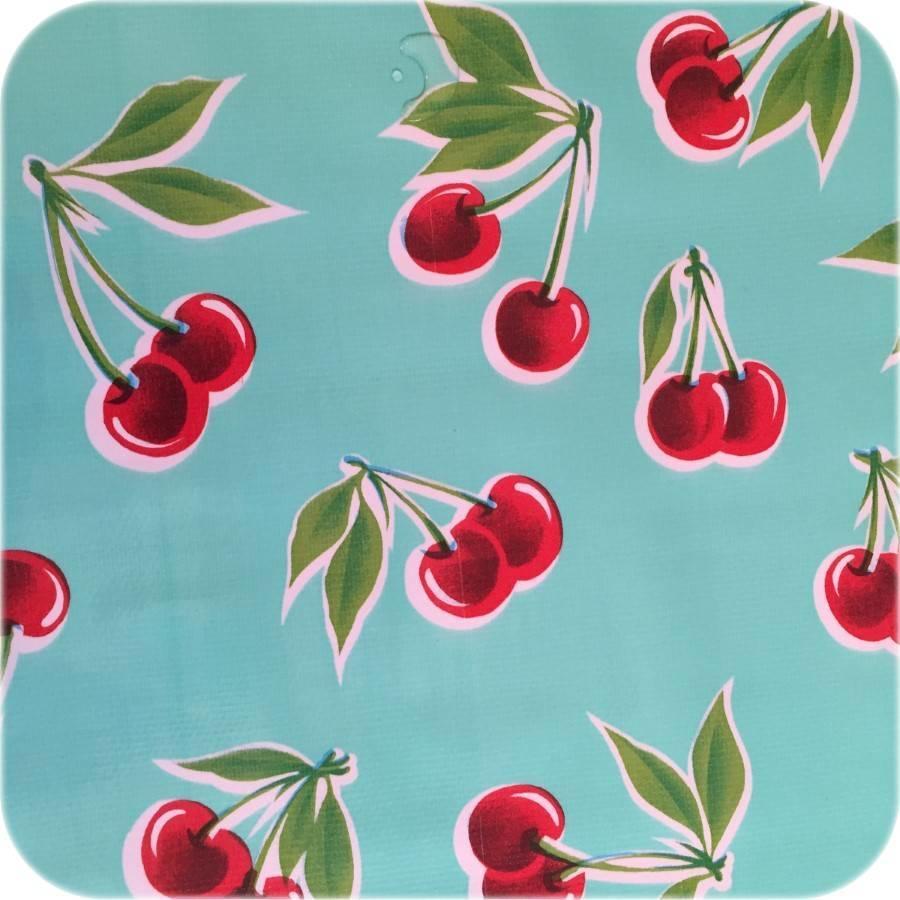 Tafelzeil Kersen - Rol - 120 cm x 11 m - Mintgroen