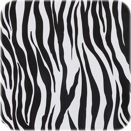 Tafelzeil op rol Zebra zwart