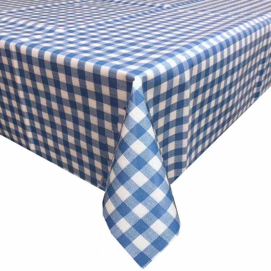 Europees Eco tafelzeil ruitje blauw 2,5M