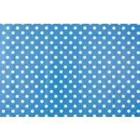 Europees Eco tafelzeil blauw-wit grote stip rond 140 cm