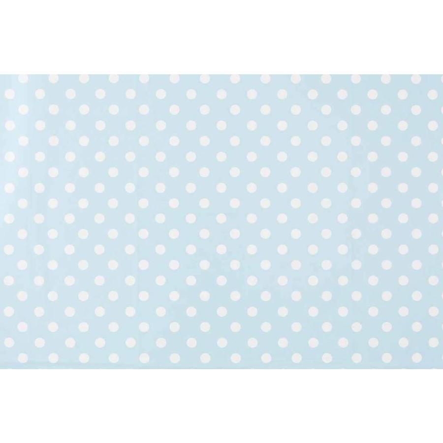 Europees Eco tafelzeil lichtblauw-wit grote stip 2,5M