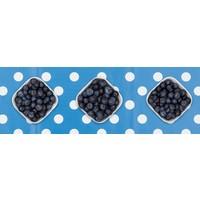 Europees Eco tafelzeil Rol 20m blauw-wit grote stip 140 cm