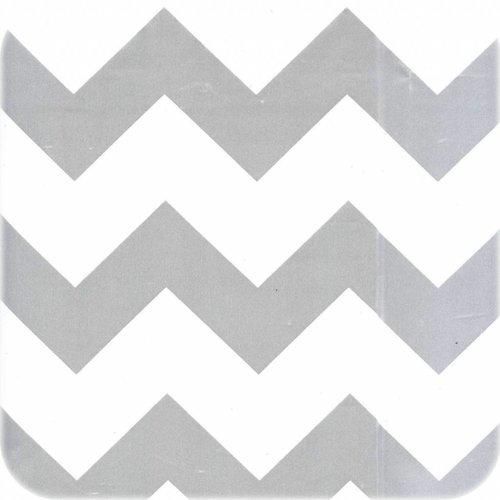 Tafelzeil op rol Zigzag zilver rol 11m x 1,20m