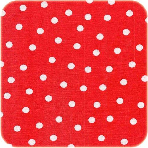 Tafelzeil 3m roodwit stip