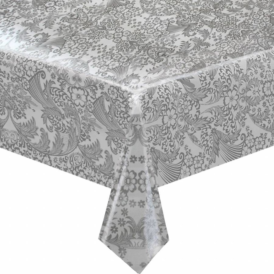 Mexicaans Tafelzeil 3m bij 1,20m Paraiso zilver