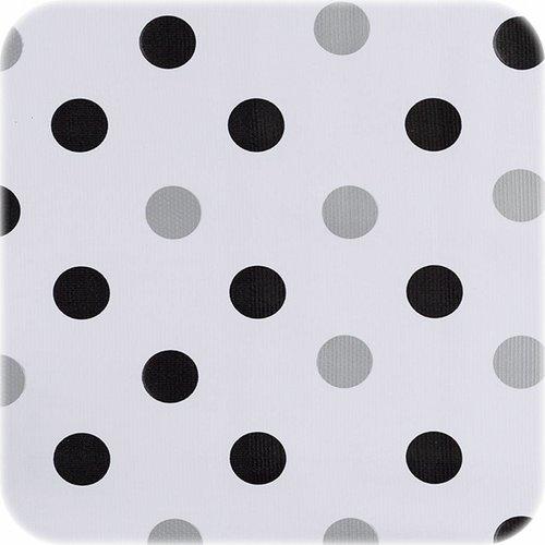 Tafelzeil 3m Confetti zwart-zilver