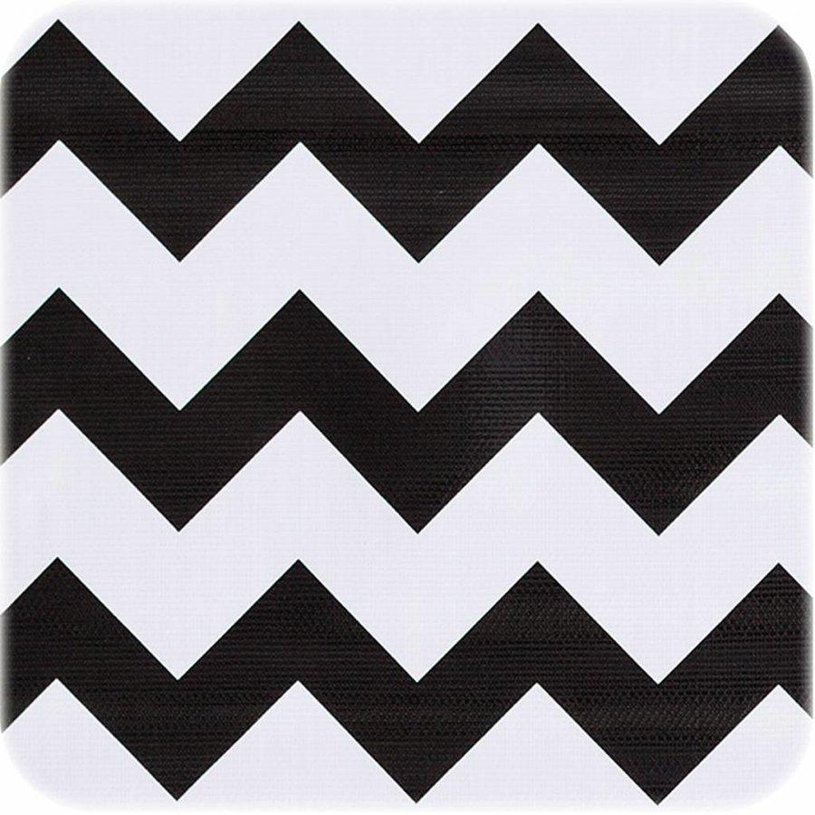 Mexicaans Tafelzeil 3m bij 1,20m zigzag zwart