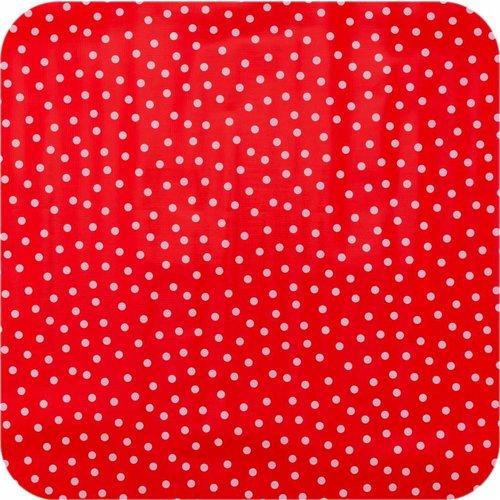 Tafelzeil 2,5m rood met witte stippen