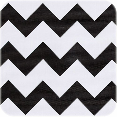 Tafelzeil 2m Zigzag zwart