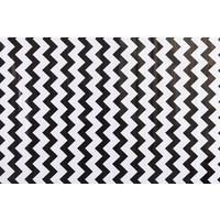 Mexicaans tafelzeil 2m bij 1.20m, Zigzag zwart