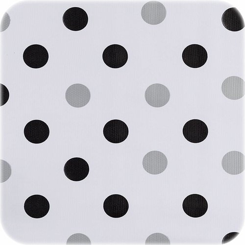 Tafelzeil 2m Confetti zwart-zilver