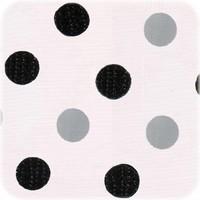 Mexicaans tafelzeil 2m bij 1.20m, Confetti zwart-zilver