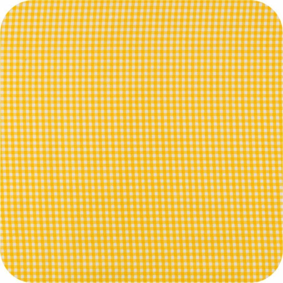 Mexicaans tafelzeil 2m bij 1.20m, Ruitje geel