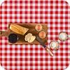 MixMamas Mexicaans tafelzeil 2m bij 1.20m, grote Ruit rood