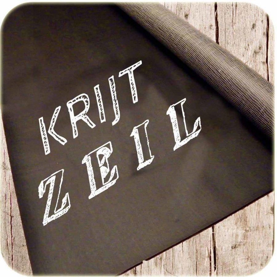 Schoolbord Krijtzeil zwart vierkant 120x120cm