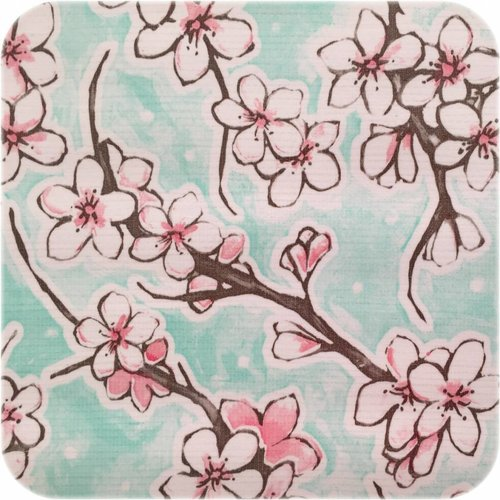 Tafelzeil 120cm Kersenbloesem mintgroen