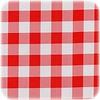 MixMamas Mexicaans Tafelzeil vierkant 1,20m bij 1,20m grote Ruit rood