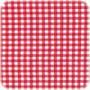MixMamas Mexicaans Tafelzeil vierkant 1,20m bij 1,20m Ruitje rood