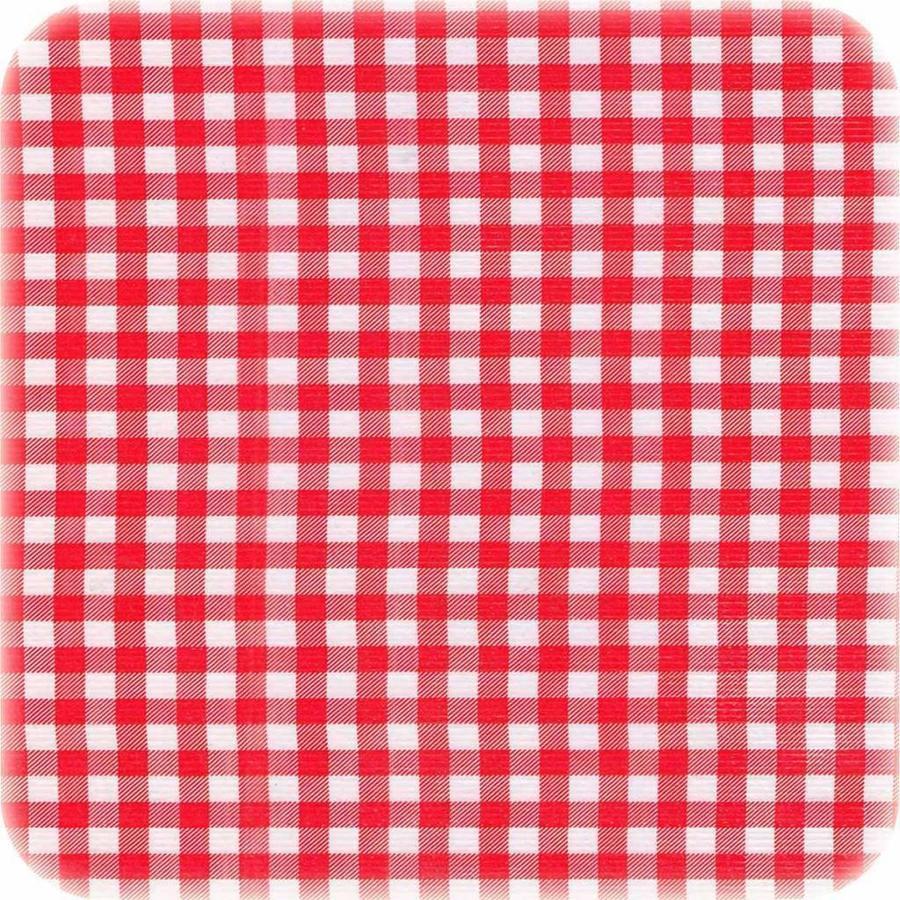 Mexicaans Tafelzeil vierkant 1,20m bij 1,20m Ruitje rood