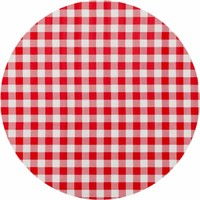 Rond tafelzeil 120cm grote ruit rood