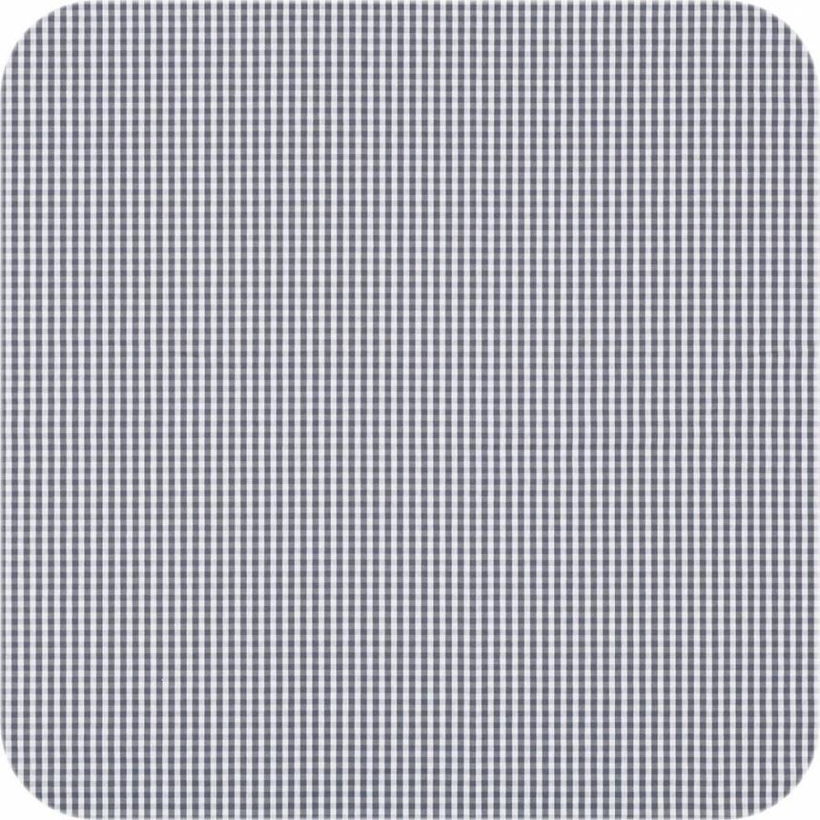 Gecoat tafelkleed Ruitje grijs 2mx 140cm