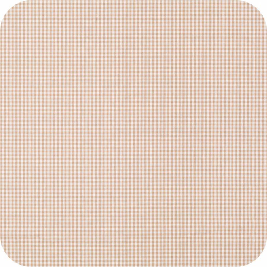 Gecoat tafelkleed 2m Ruitje beige 1,6m breed