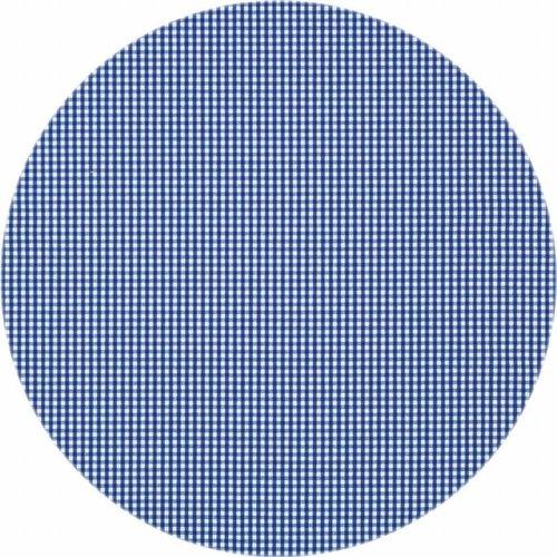Gecoat rond tafelkleed Ruitje d-blauw 140cm