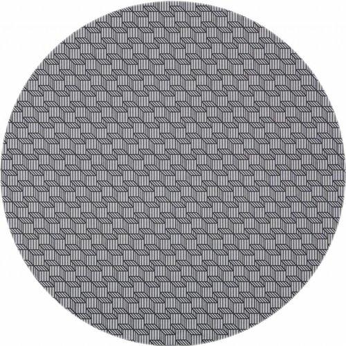Rond Tafelkleed Gecoat - Ø 140 cm - grijs