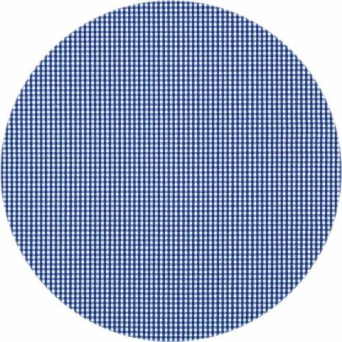 Gecoat rond tafelkleed Ruitje d-blauw 160cm