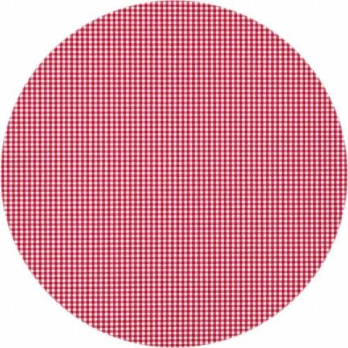 Rond Tafelkleed Gecoat - Ø 160 cm - Ruitje rood