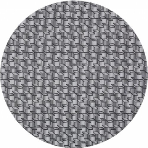 Gecoat rond tafelkleed Kubussen grijs160cm