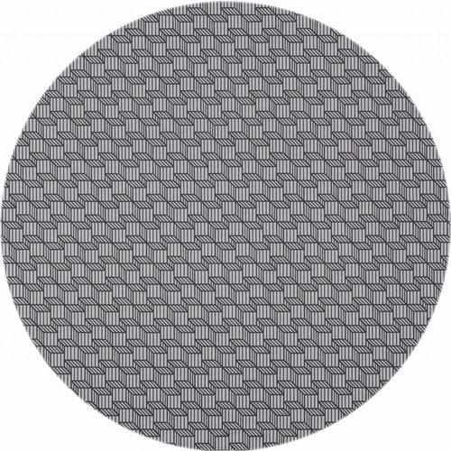 Rond Tafelkleed Gecoat - Ø 160 cm - Kubussen grijs