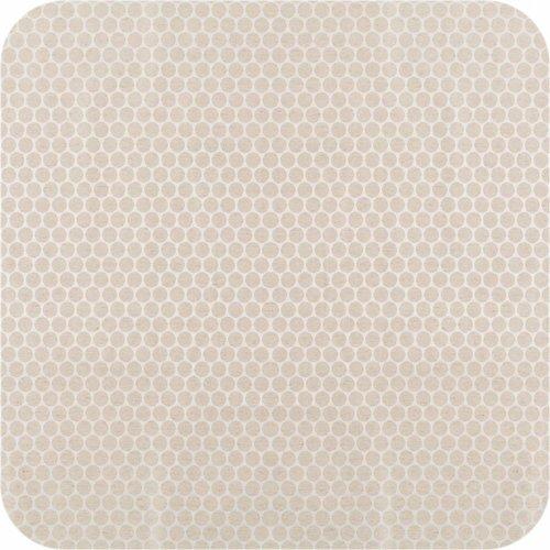 Gecoat tafelkleed 140 x 250 cm linnen stippen Beige