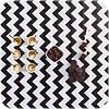 MixMamas Mexicaans Tafelzeil 2,5m Zigzag, Chevron zwart-wit