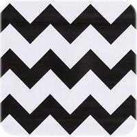 Mexicaans Tafelzeil 2,5m Zigzag, Chevron zwart-wit