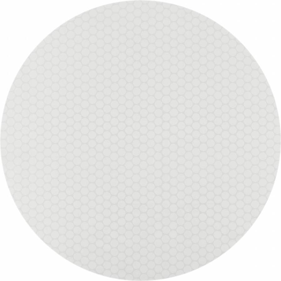 Gecoat rond tafelkleed witte stippen 180cm