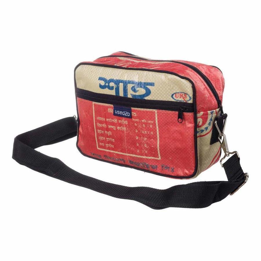 Stoer schoudertasje Post it cementzakken rood