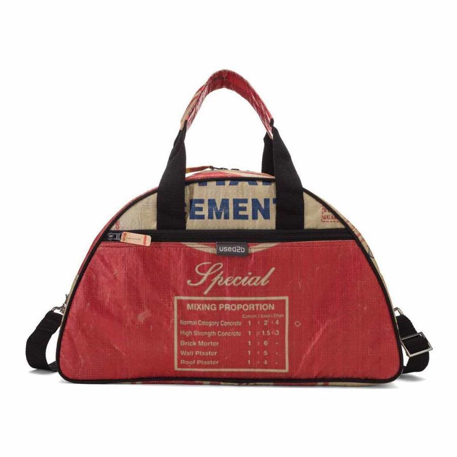 Hippe schoudertas Gym gemaakt van Cement rood