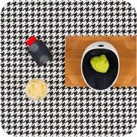 Cookplay Jomon mini tapasbakje porselein wit-zwart 4-delig