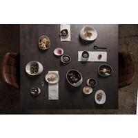 Cookplay Jomon mini tapasbakje porselein zwart-wit geschenkdoos