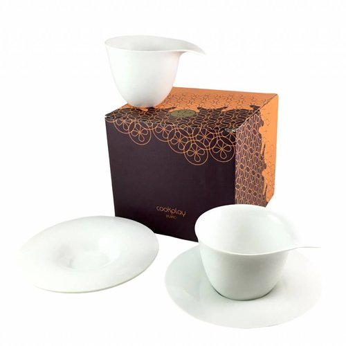 Cookplay Fly Thee set 2-delig Porselein 250 ml Wit