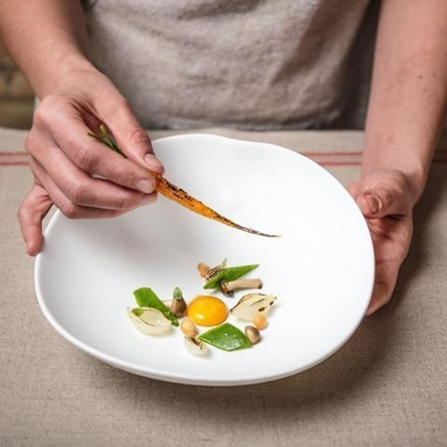 Cookplay Shell schaal wit porselein 2-delig
