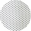 MixMamas Gecoat rond tafelkleed wit met zwarte stippen 150 cm