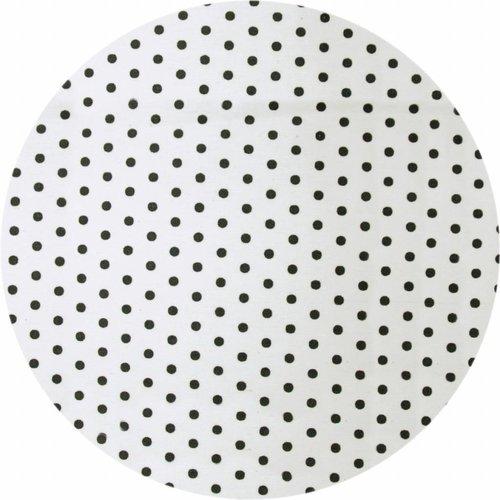 Rond Tafelkleed Gecoat - Ø 150 cm - Stippen zwart
