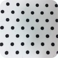 Gecoat rond tafelkleed wit met zwarte stippen 170 cm
