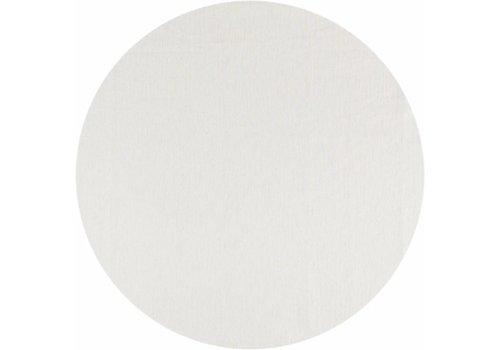 Rond Tafelkleed Gecoat - Ø 160 cm - Linnen Wit met goud
