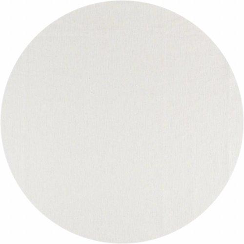 Gecoat tafelkleed Linnen Wit met goud Rond 160cm